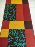Red Velvet Style Polyester Area Rug Anti-Slip Small Carpet / Runners for Living Room, Bedrooms