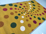 Spiral Dotted (Light) Design Rugs / Runners - 100% Polyester Rug with Anti-slip Latex back