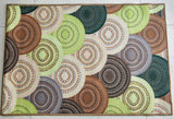 Knitted Green Style Polyester Area Rug Anti-Slip Small Carpet / Runners for Living Room, Bedrooms