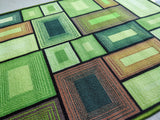 Green Blocks 3D Style (Green) Polyester Area Rug Anti-Slip Small Carpet / Runners for Living Room, Bedrooms