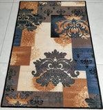 Grey Decor - Modern Art theme Rugs / Runners - 100% Polyester with anti-slip Latex back