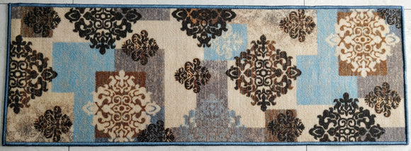 Blue Décor Style (Blue) Polyester Area Rug Anti-Slip Small Carpet / Runners for Living Room, Bedrooms