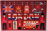 London Souvenir Rugs / Runners - 100% Polyester with Anti-slip Latex back (Love London)