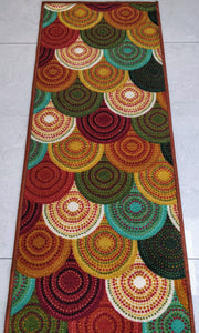 Colourful Knitted Design Rugs / Runners - 100% Polyester Rug with Anti-slip Latex back