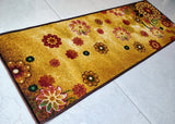 Morning Bloom Art theme Rugs / Runners / Carpet - 100% Polyester with anti slip with Latex back