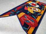 Christmas Theme Stocking Rugs / Runners / Carpets - 100% Polyester with latex back (Gloves)