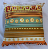 Cushion Covers Style 63201 Cotton Linen 45 x 45 cm for Sofas, Beds (Pack of 2)