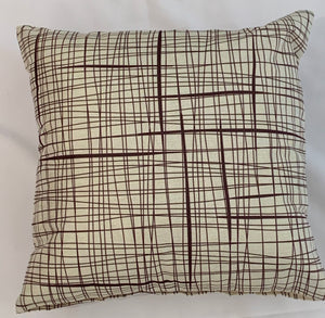 Cushion Covers Style 62909 Cotton Linen 45 x 45 cm for Sofas, Beds (Pack of 2)