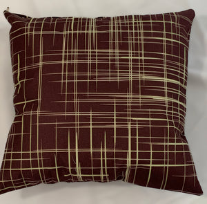 2 x Brown Dark Cushion Covers (62908) Linen 45 x 45 cm Square Premium Soft Furnishing, Sofas, Beds, Indoor, Outdoor