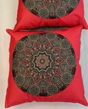 Cushion Covers Style 56402 Cotton Linen 45 x 45 cm for Sofas, Beds (Pack of 2)