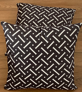 Cushion Covers Style 47622 Cotton Linen 45 x 45 cm for Sofas, Beds (Pack of 2)