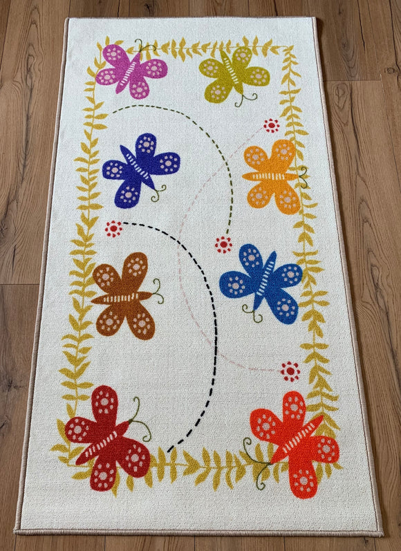 Butterfly 2014 Polyester Area Rug Anti-Slip Small Carpets / Runners for Living Room, Bedrooms