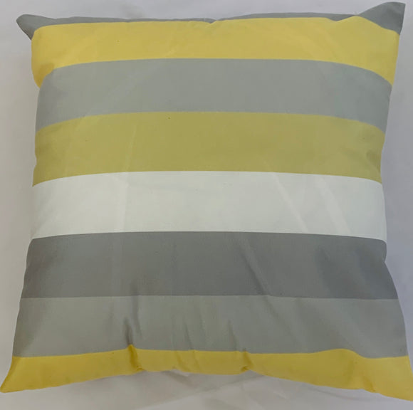 2 x Yellow Stripes Cushion Covers (58603) Short Plush 45 x 45 cm Square Premium Soft Furnishing, Sofas, Beds, Indoor, Outdoor