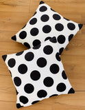 2 x Black & White Cushion Covers (54810) Velvet 45 x 45 cm Square Premium Soft Furnishing, Sofas, Beds, Indoor, Outdoor