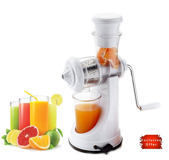 Manual Fruit and Vegetable Juicer White Royal BPA Free