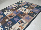 Alphabets Rugs / Carpets / Mat for kids room - 100% Polyester with anti-slip Latex back