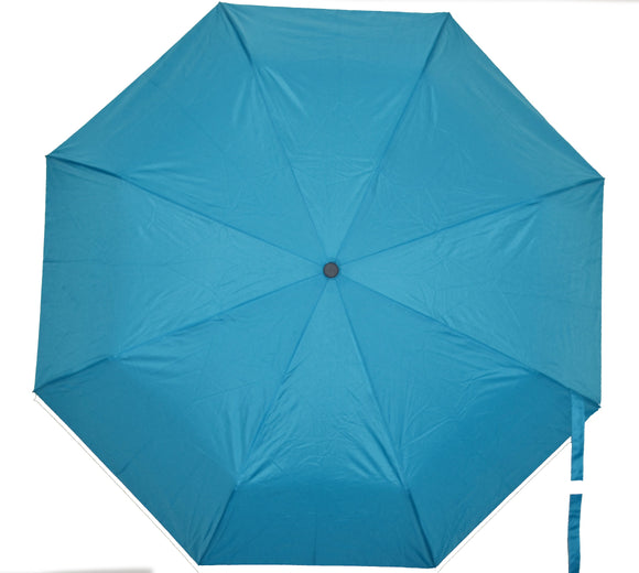 BuyElegant Turquoise Checked Automatic Open Close Umbrella (3 Fold)