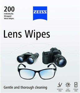 ZEISS Lens Wipes - Screen Wipes - Pack of 200