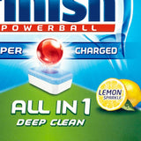 Finish 100 Powerball Super Charged All In One Dishwasher Tablets Lemon Sparkle - XXXL Pack