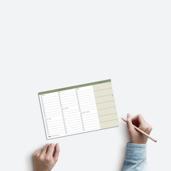 Meal and Grocery List Notepad - Shopping List - Weekly Groceries - Grocery Store List - Meal Planning - Food Budget