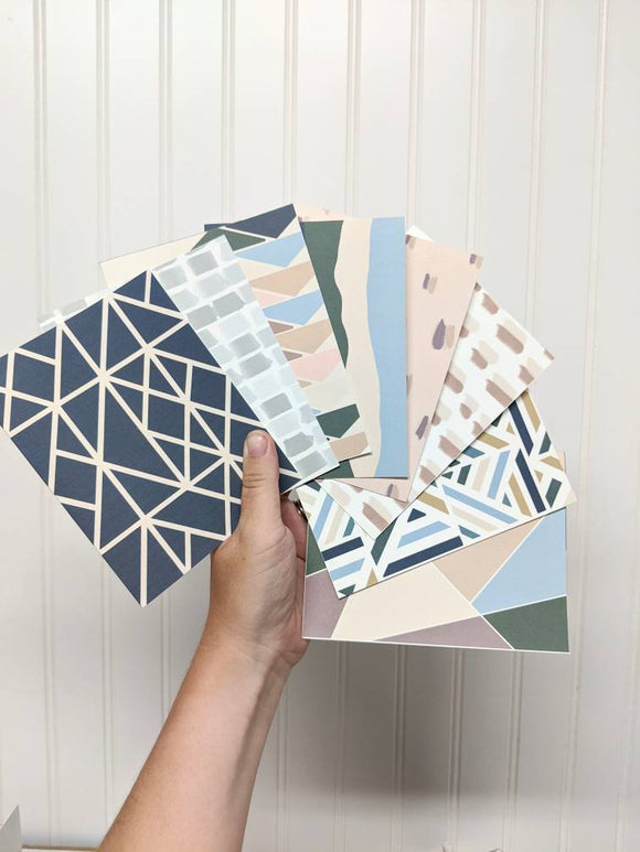 8 Pack of Blank All Occasion Cards - Notecard - Snail Mail - Minimal Card - Modern Greeting Card - Neutral Color