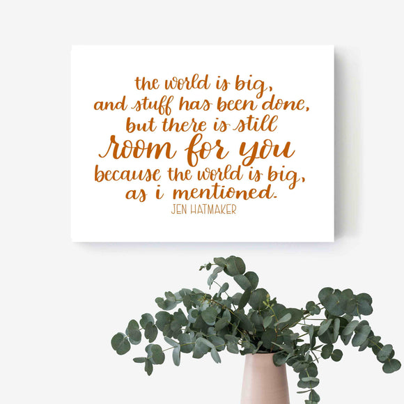 Hand-Lettered Print - Home Decor - Wall Decor - Text Print - Framed Artwork - Nursery Decor - Office Decor - Motivational Saying