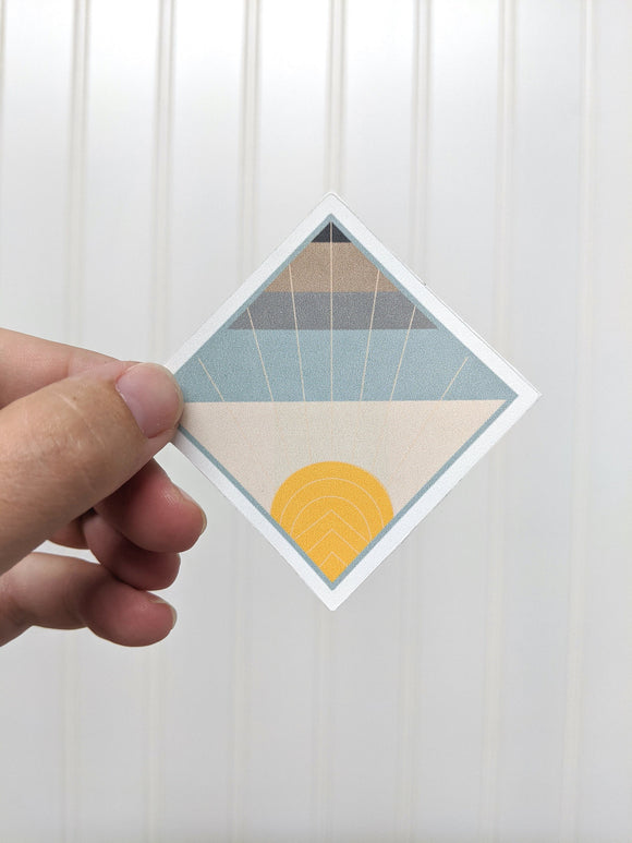 Sticker - Geometric Sunrise - Quilt Pattern Sticker