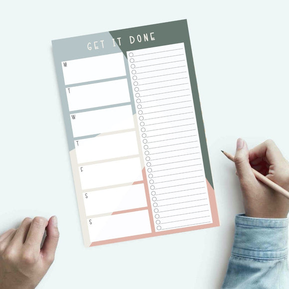 Priority Notepad - Time Management - Weekly Schedule Notepad - Weekly To-Do List - Weekly Task Organizer