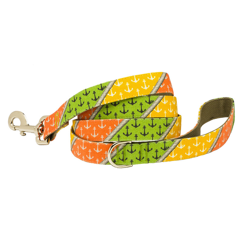 Our Good Dog Spot Sag Harbor Patchwork Anchor Dog Lead
