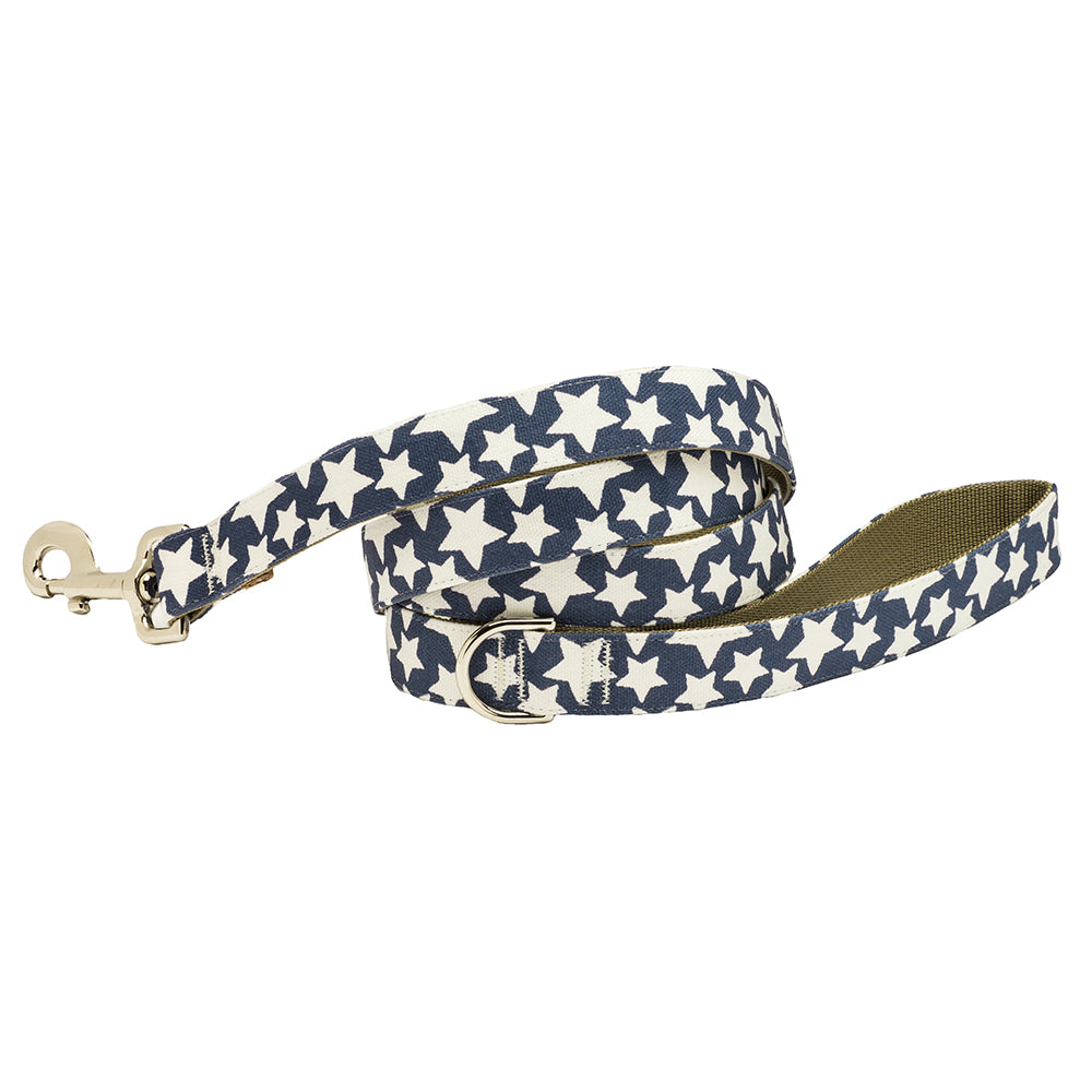 Our Good Dog Spot Stars Dog Lead Patriotic Blue