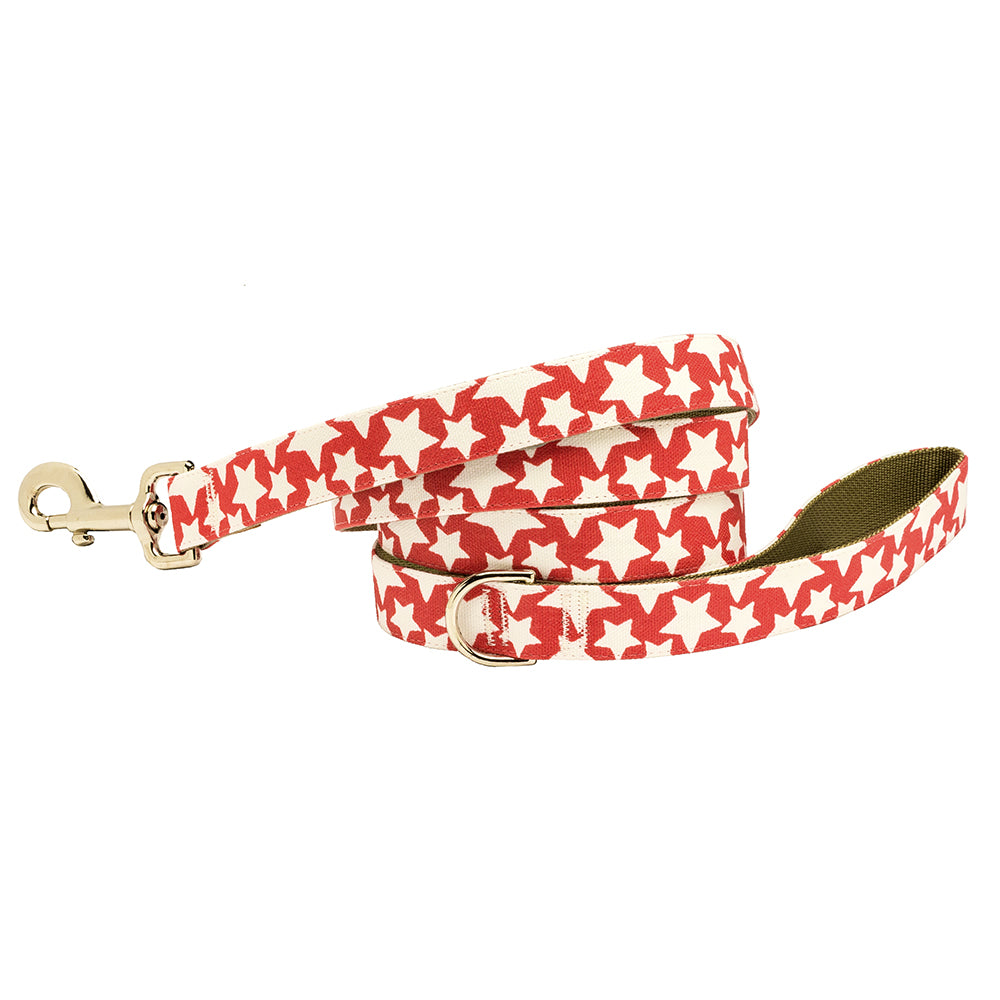Our Good Dog Spot Stars Dog Lead Patriotic Red
