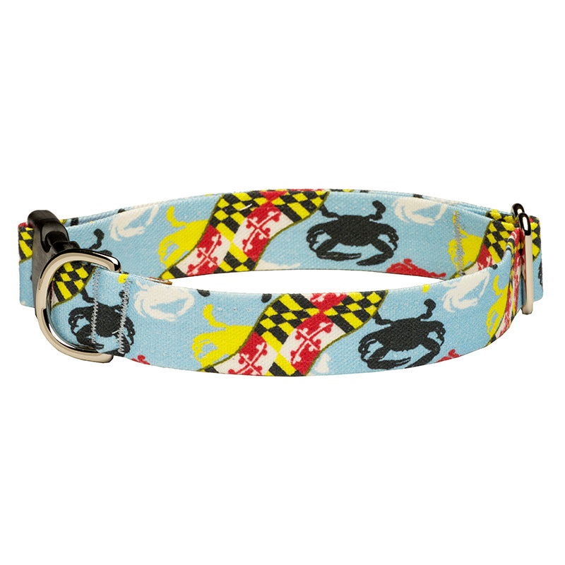 Our Good Dog Spot Maryland Flag and Crab Dog Collar