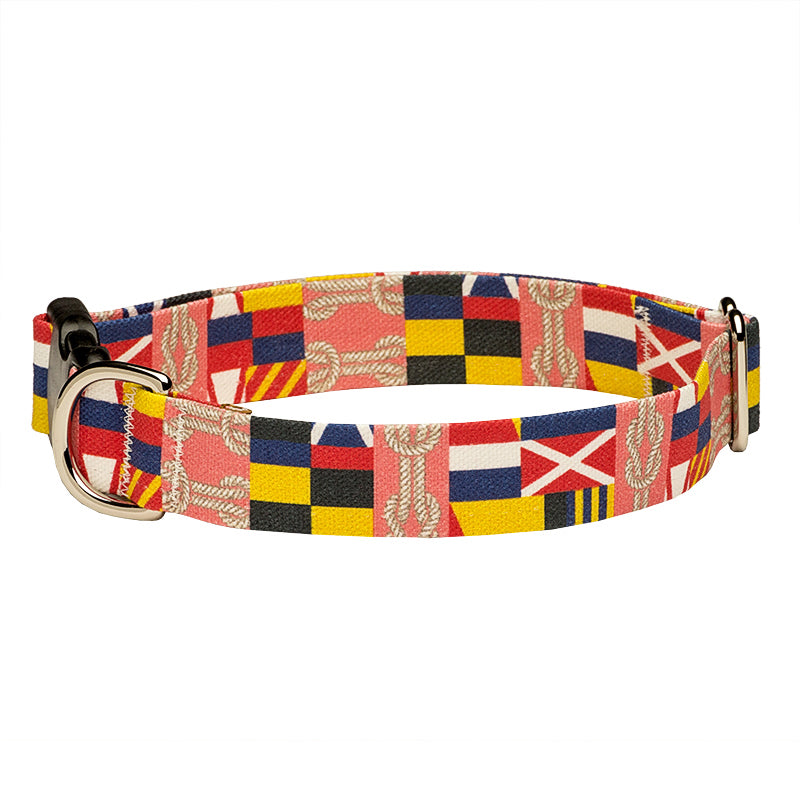 Our Good Dog Spot Corinthian Dog Collar Coral