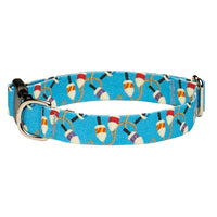 Our Good Dog Spot Salty Buoy Dog Collar Blue