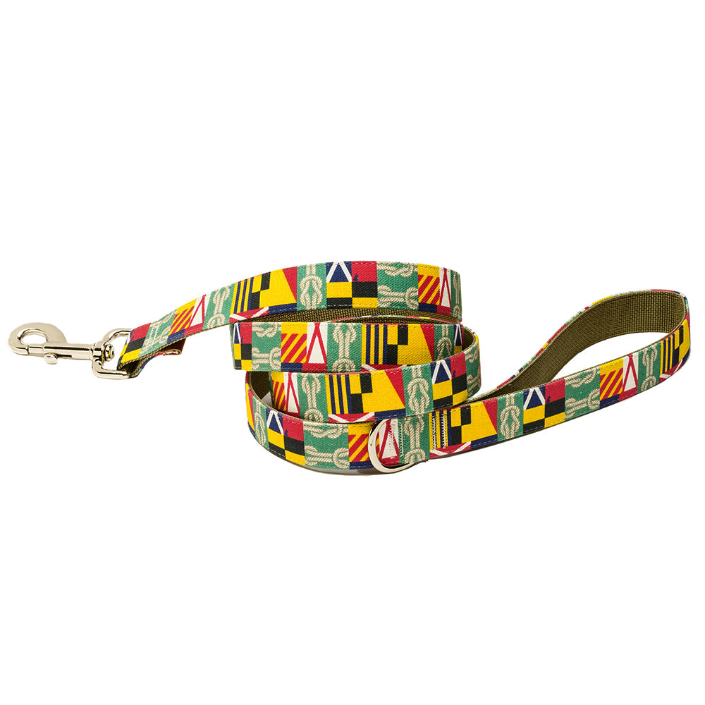 Our Good Dog Spot Corinthian Dog Lead Green