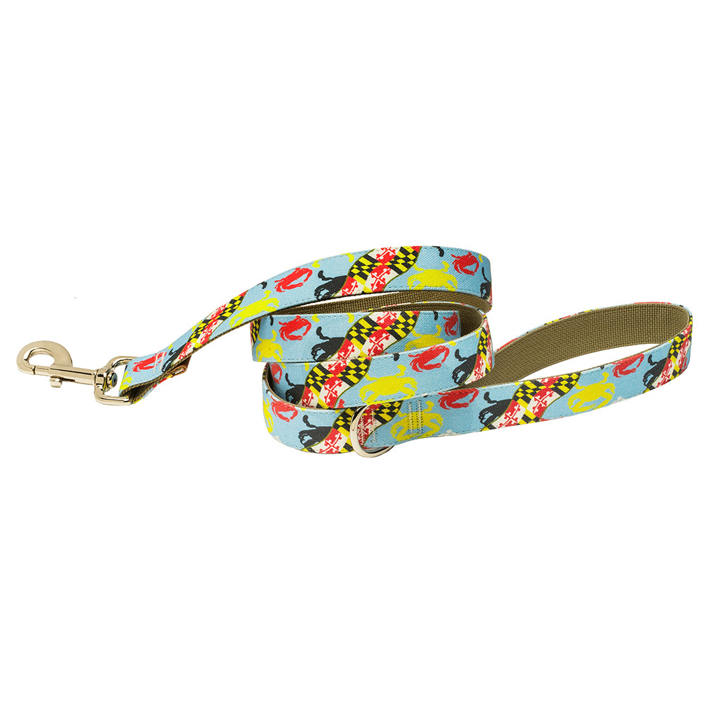 Our Good Dog Spot Maryland Flag and Crab Dog Lead