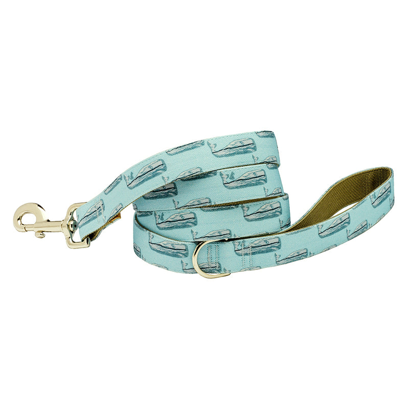 Our Good Dog Spot Nantucket Whale 23 Dog Lead Teal