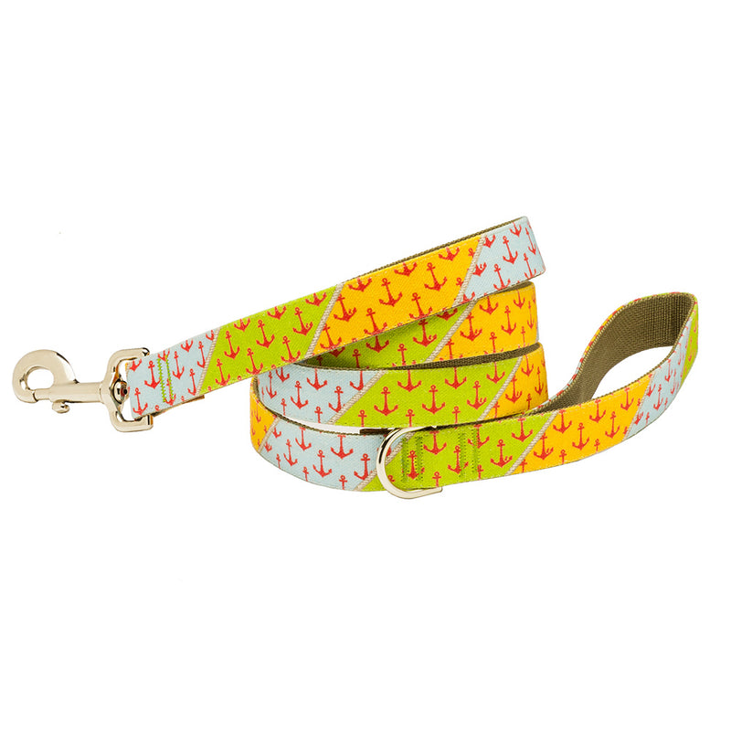 Our Good Dog Spot Yachtsmans Anchor Patchwork Dog Lead