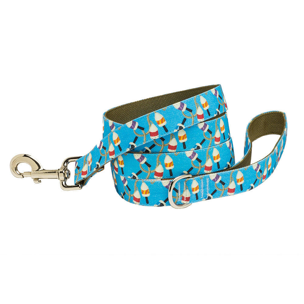 Our Good Dog Spot Salty Buoy Dog Lead Blue