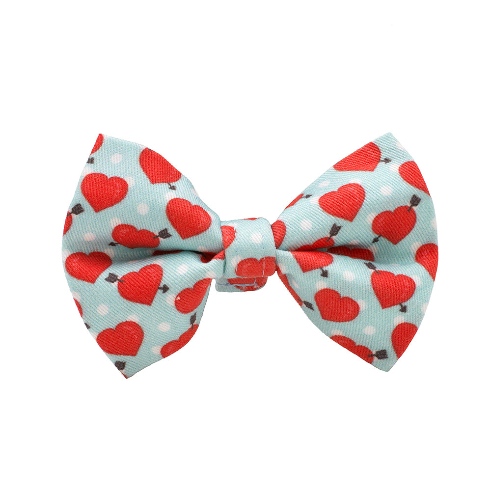 Our Good Dog Spot Be Mine Blue Valentine Bow Tie