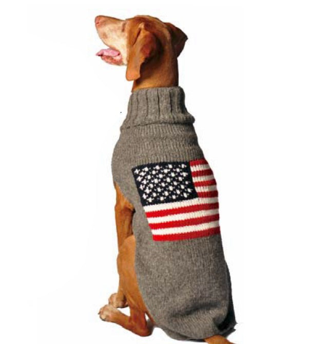 American Flag Wool Sweater - XS