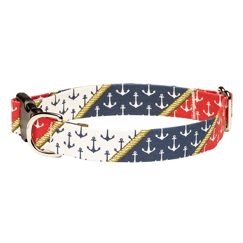 Our Good Dog Spot Nautical Pride Anchor Dog Collar