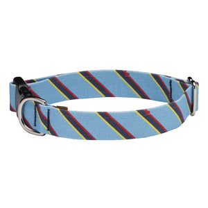 Our Good Dog Spot Prep Repp Blue Stripe Dog Collar