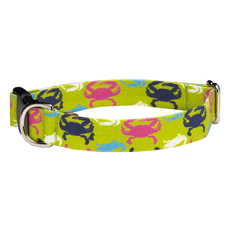 Our Good Dog Spot Chesapeake Crab Dog Collar Green