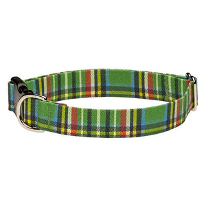 Our Good Dog Spot Landsdowne Tartan Dog Collar Green