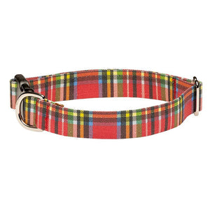 Our Good Dog Spot Landsdowne Tartan Dog Collar Red