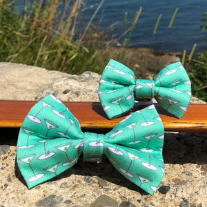 Our Good Dog Spot Mint Green Martini Bowtie