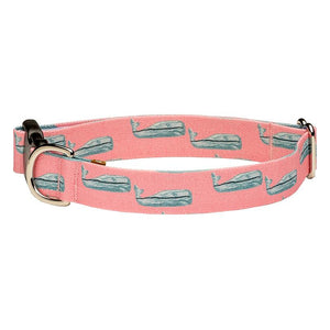 Our Good Dog Spot Nantucket Whale 23 Dog Collar Pink
