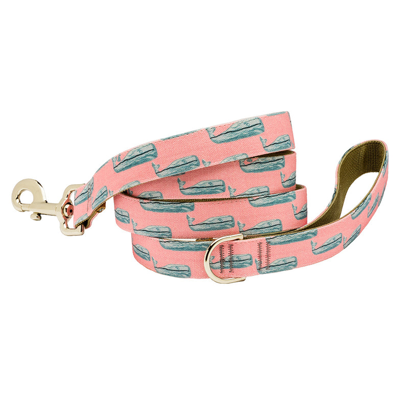 Our Good Dog Spot Nantucket Whale 23 Dog Lead Pink