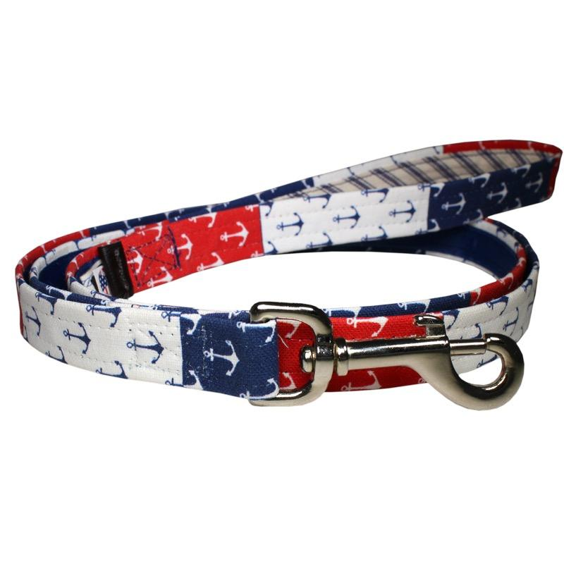 Our Good Dog Spot Nautical Pride Anchor Dog Lead